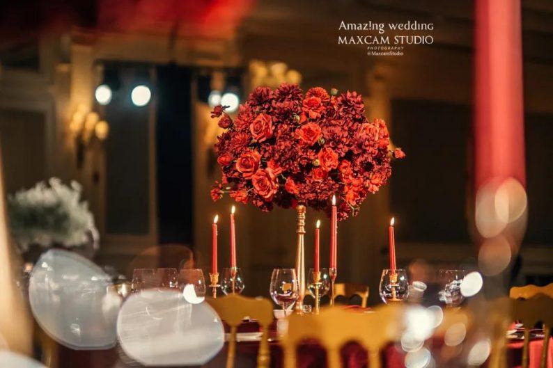 仪式展区+4大宴会展区!美薇亭打造华丽欧式风静态婚礼展  第8张