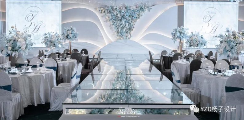 婚礼堂发布:贵阳鸿福盛宴步步高厅设计解读  第3张