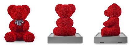 """吉尼斯世界纪录!百界打造世上""""最大的玫瑰熊""""  第3张"""