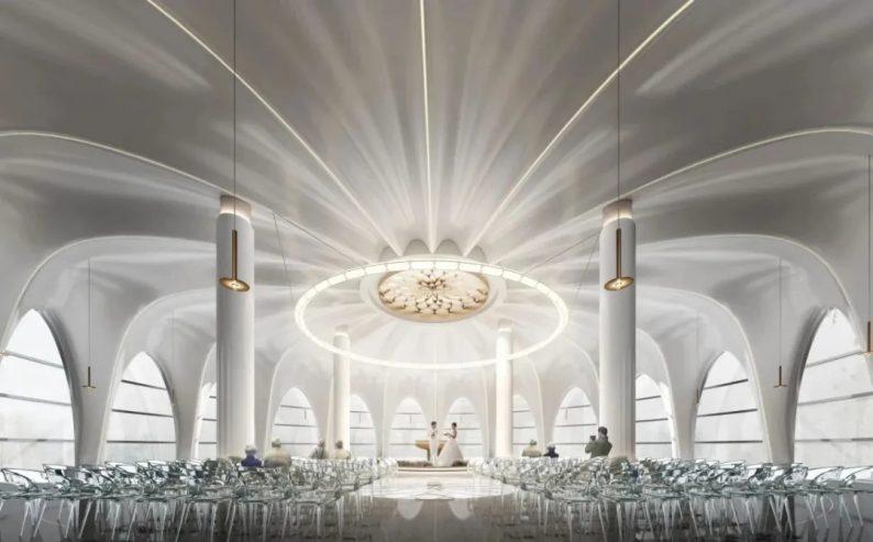 婚礼堂发布:3.4万平、投资3.2亿!赖梓愈打造百万级粉色宫殿  第1张
