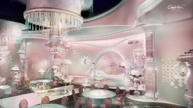 婚礼堂发布:3.4万平、投资3.2亿!赖梓愈打造百万级粉色宫殿  第2张