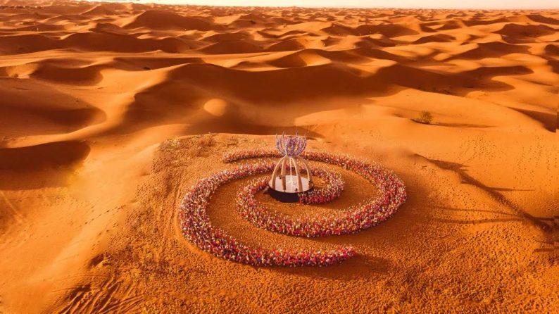 徐丹设计!无垠沙漠中的绝美婚礼  第1张