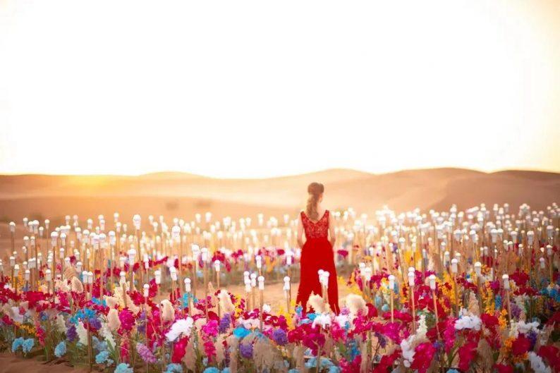 徐丹设计!无垠沙漠中的绝美婚礼  第4张