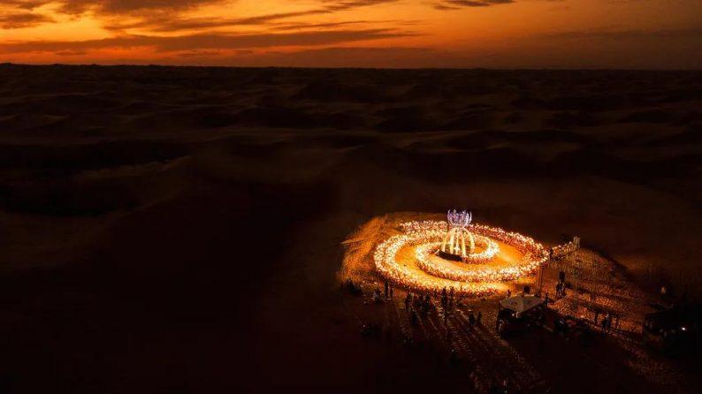 徐丹设计!无垠沙漠中的绝美婚礼  第6张