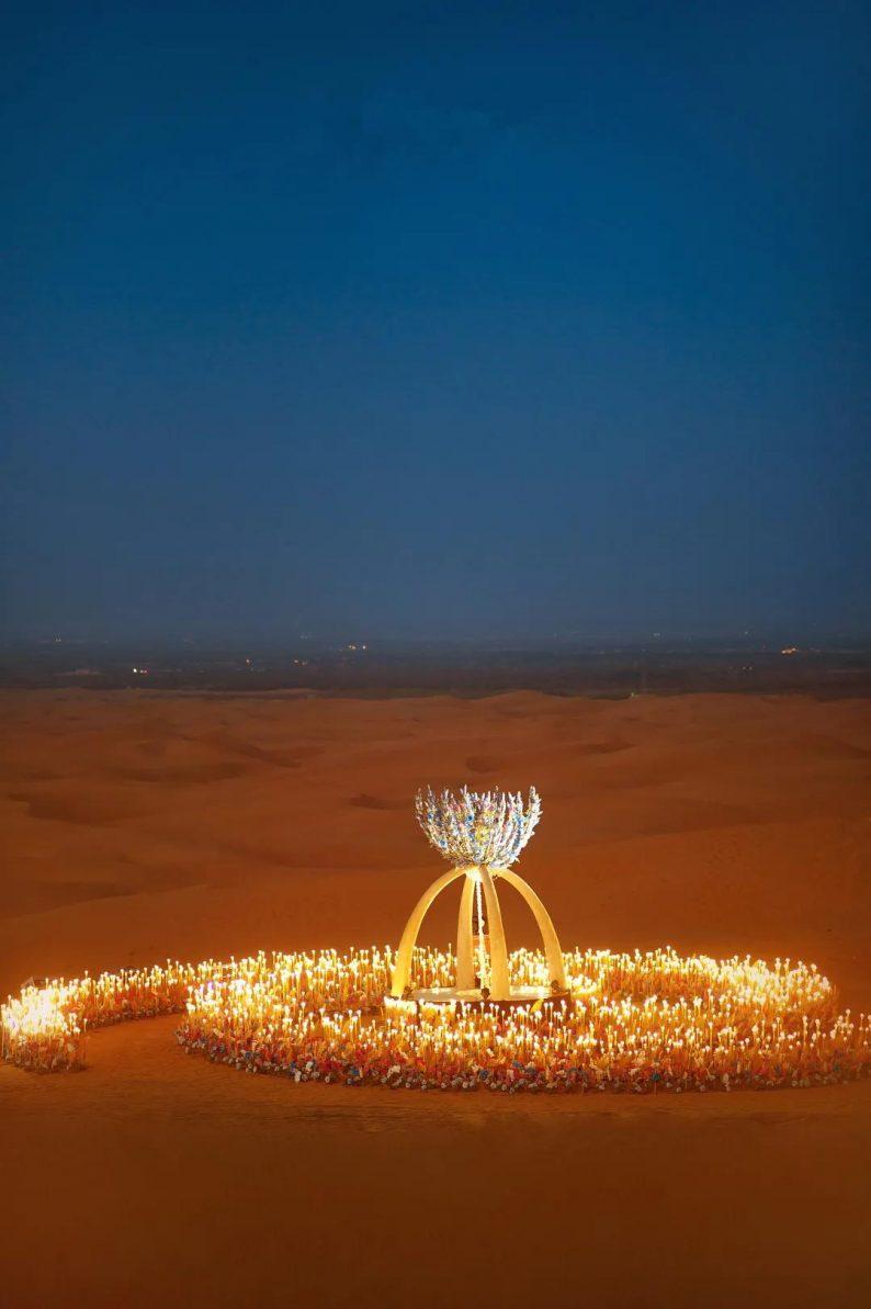 徐丹设计!无垠沙漠中的绝美婚礼  第9张