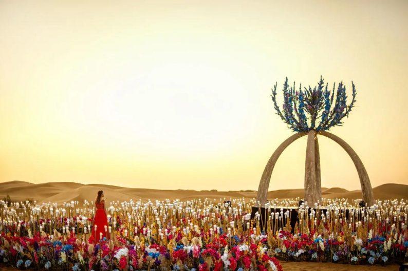 徐丹设计!无垠沙漠中的绝美婚礼  第11张
