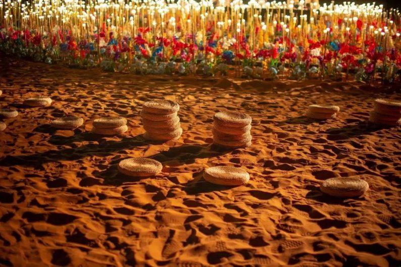 徐丹设计!无垠沙漠中的绝美婚礼  第12张