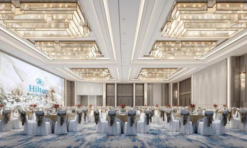 婚礼堂发布:2020平米!眉山希尔顿花园酒店配套宴会中心  第3张
