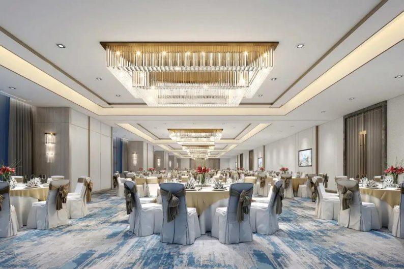 婚礼堂发布:2020平米!眉山希尔顿花园酒店配套宴会中心  第4张