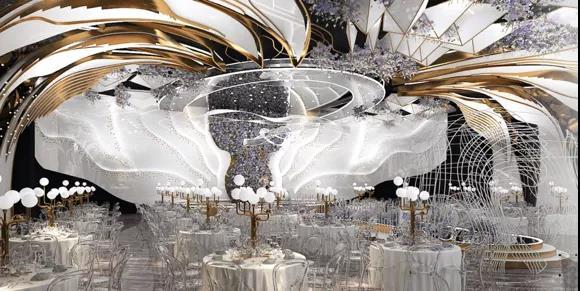 婚礼堂发布:2.5万方、5大宴会厅!重庆永固·两江宴会中心设计解读  第9张