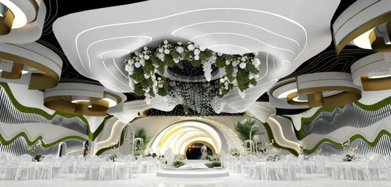 婚礼堂发布:2.5万方、5大宴会厅!重庆永固·两江宴会中心设计解读  第13张