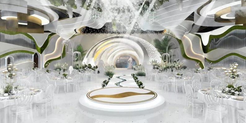 婚礼堂发布:2.5万方、5大宴会厅!重庆永固·两江宴会中心设计解读  第14张