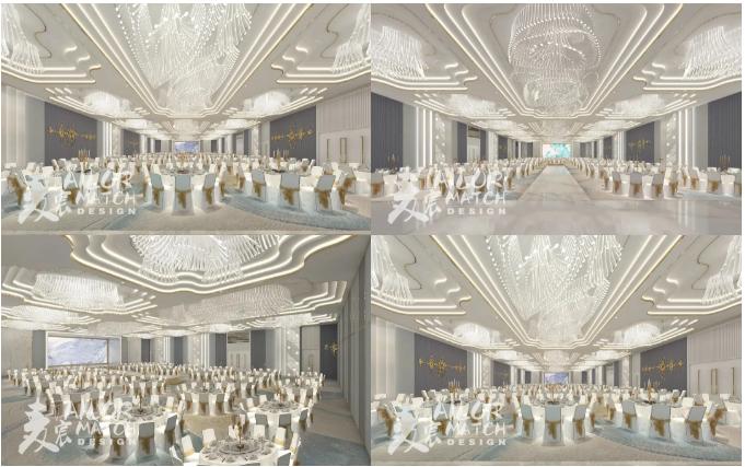 婚礼堂发布:2.5万方、5大宴会厅!重庆永固·两江宴会中心设计解读  第10张