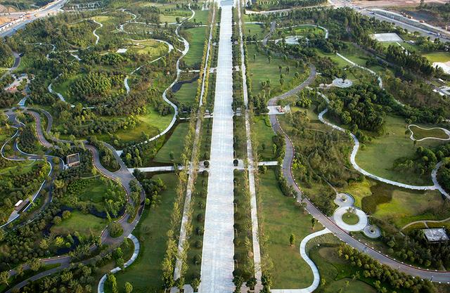 重庆城市中心公园,成婚纱照打卡胜地  第2张