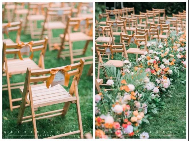 户外婚礼的灵魂,居然是椅子!  第6张