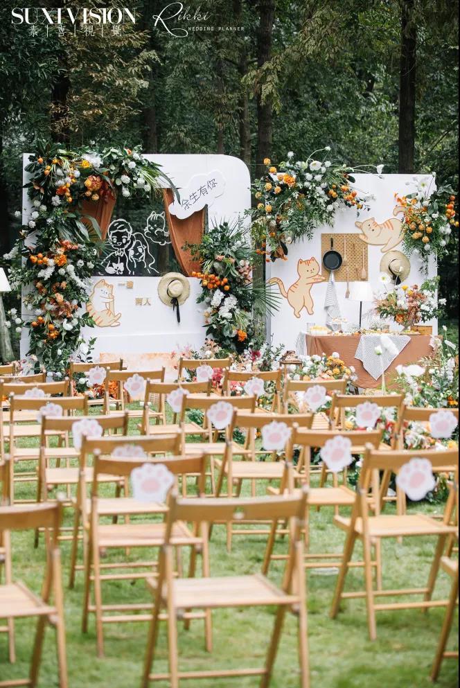 户外婚礼的灵魂,居然是椅子!  第12张