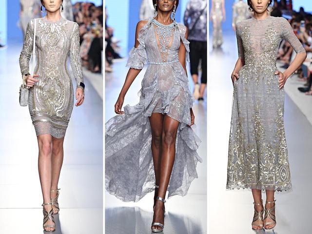 极致奢华!施华洛世奇水晶大裙摆礼服  第4张