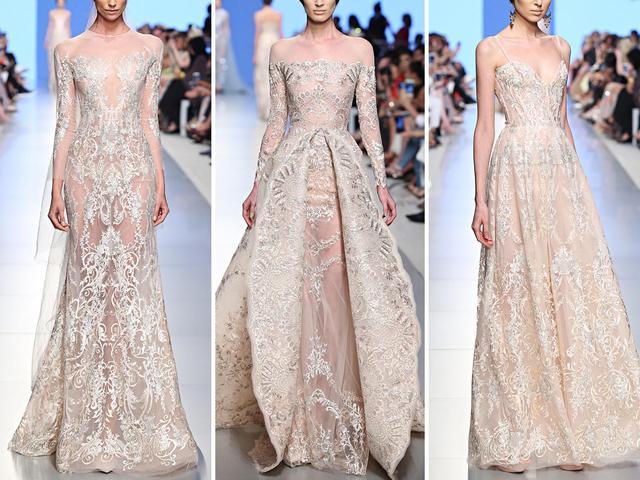 极致奢华!施华洛世奇水晶大裙摆礼服  第6张