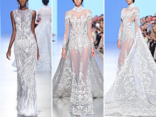 极致奢华!施华洛世奇水晶大裙摆礼服  第7张