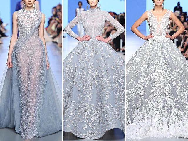 极致奢华!施华洛世奇水晶大裙摆礼服  第8张