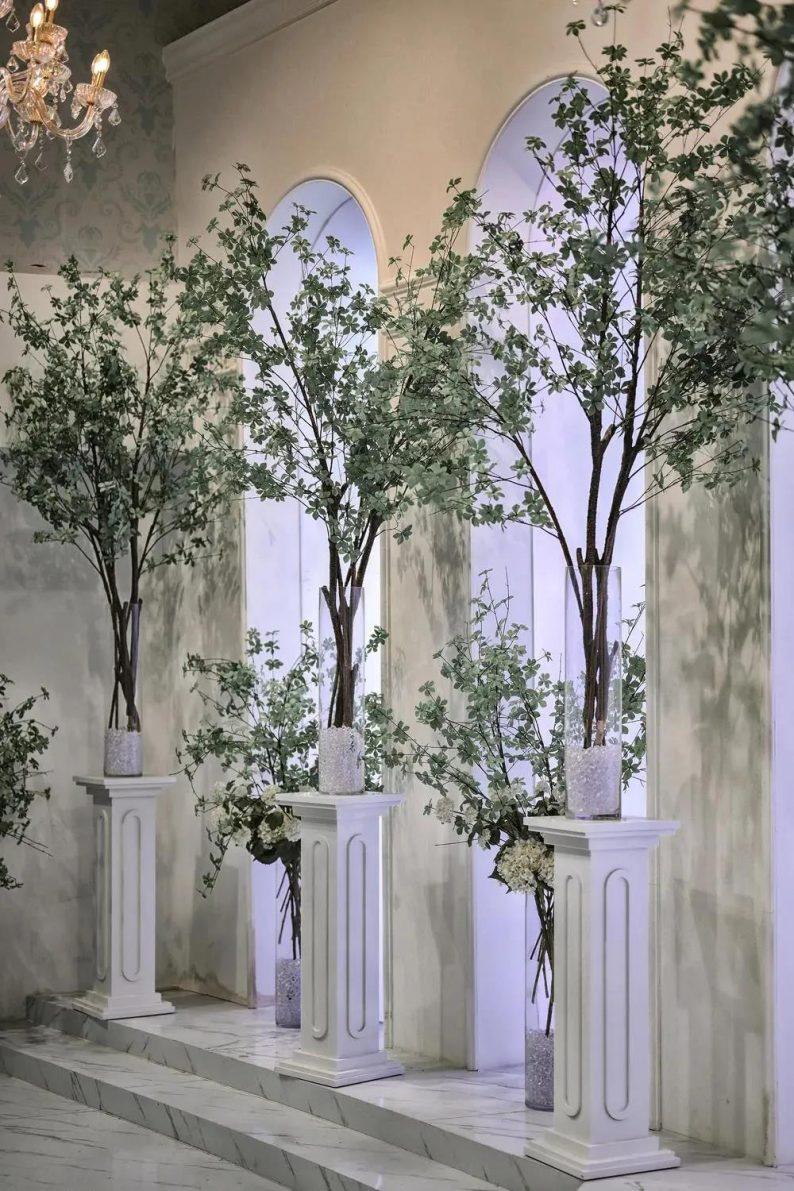 婚礼堂发布:层高8米穹顶设计,宿州一站式宴会酒店  第8张