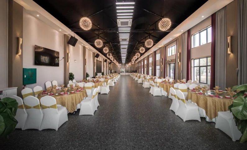 婚礼堂发布:9300平!从破旧厂房到华丽宴会厅  第15张