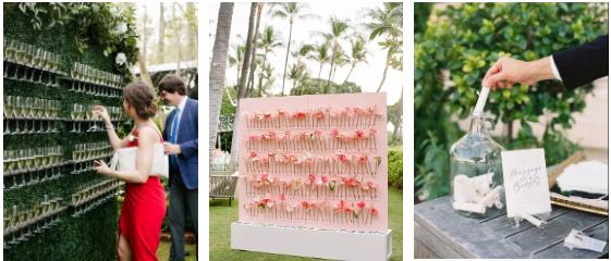 打造婚礼互动欢迎区的6个灵感  第2张