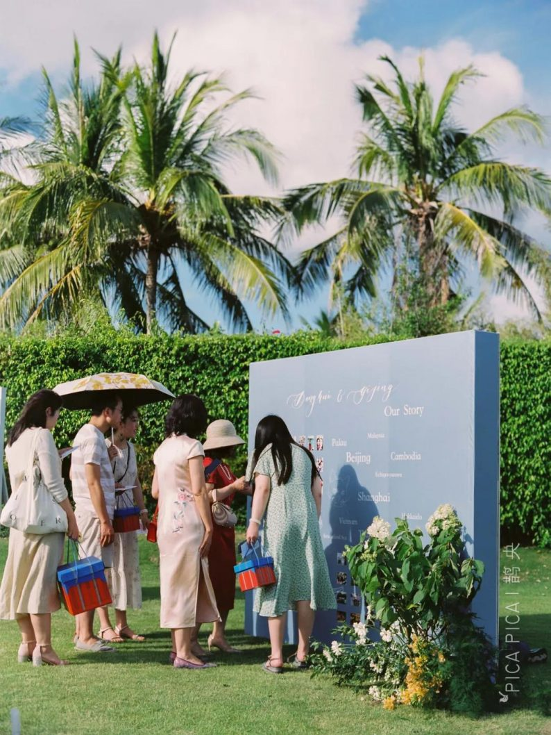 打造婚礼互动欢迎区的6个灵感  第8张