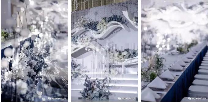 婚礼堂发布:水晶白色系!南京天空之镜婚礼堂  第5张
