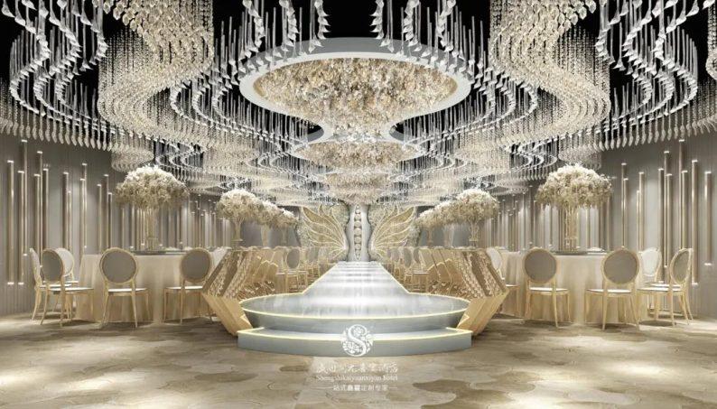 婚礼堂发布:徐丹设计!南阳首家百万级婚礼堂  第3张