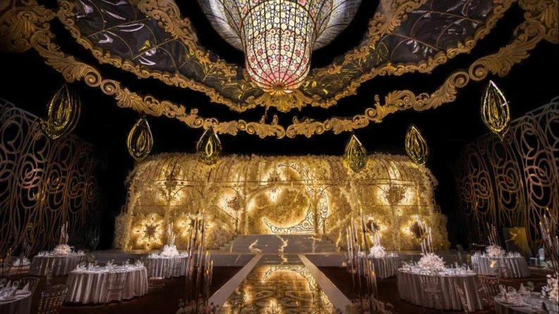 婚礼堂发布:金色复古宫殿!天合志禧最新沉浸式宴会厅  第1张