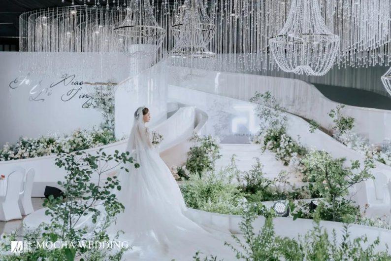 摩卡:格调担当!白绿色简约北欧风婚礼  第15张