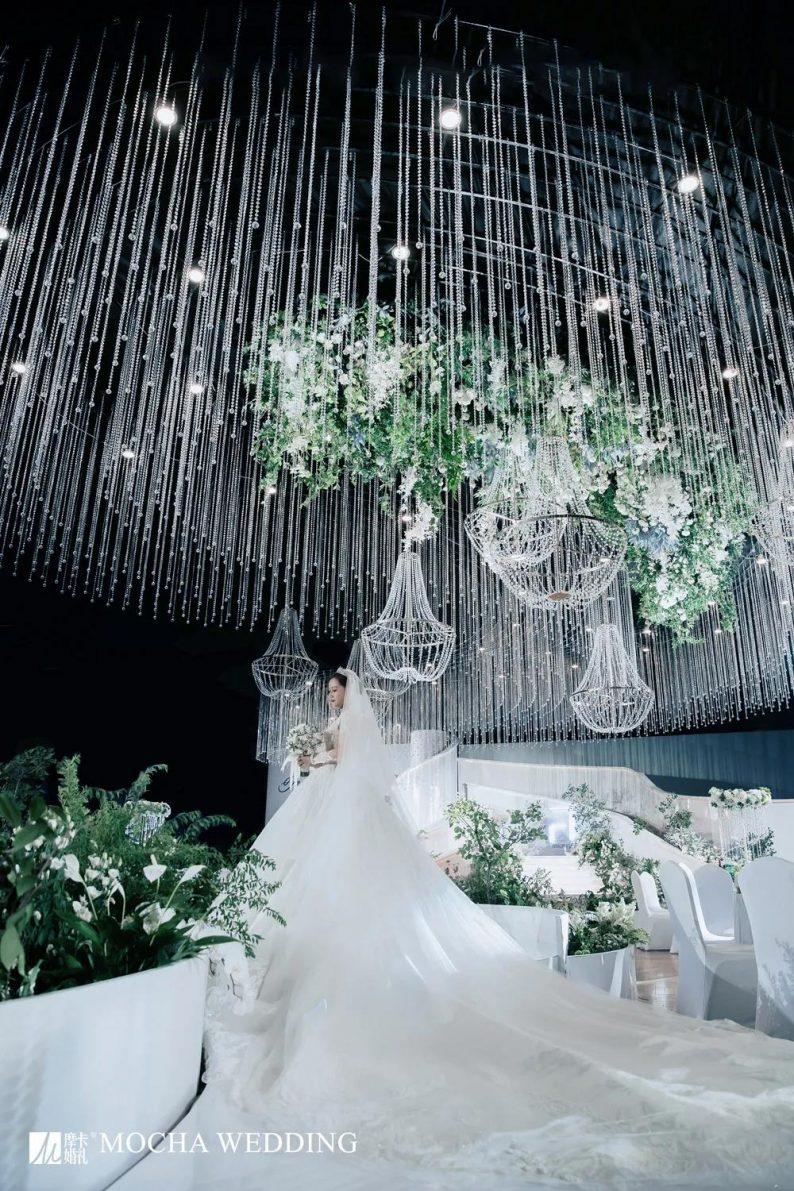 摩卡:格调担当!白绿色简约北欧风婚礼  第17张