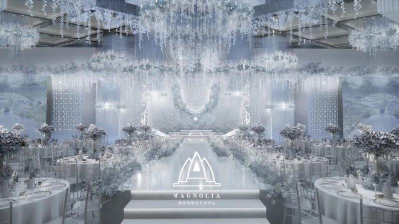 婚礼堂发布:上海曼格纳又一新品【冰蓝之翎】  第4张