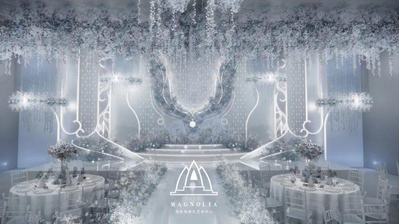 婚礼堂发布:上海曼格纳又一新品【冰蓝之翎】  第9张