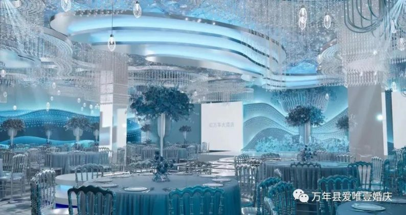 婚礼堂发布:五线城市商务酒店,打造2大宴会厅  第9张