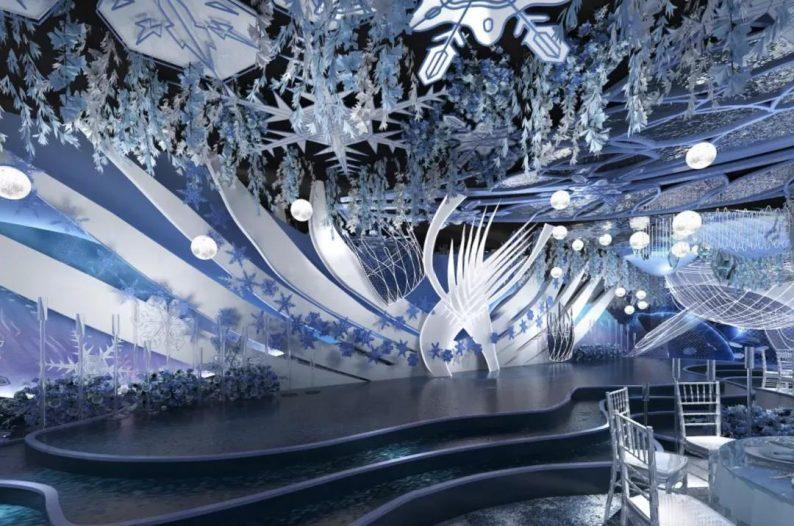婚礼堂发布:5大蓝色系婚礼堂设计大赏  第4张