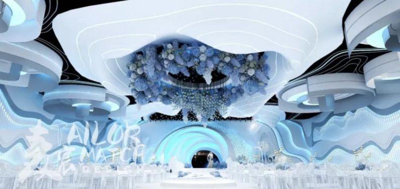 婚礼堂发布:5大蓝色系婚礼堂设计大赏  第5张