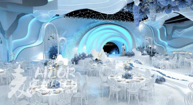 婚礼堂发布:5大蓝色系婚礼堂设计大赏  第1张