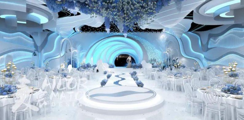 婚礼堂发布:5大蓝色系婚礼堂设计大赏  第7张