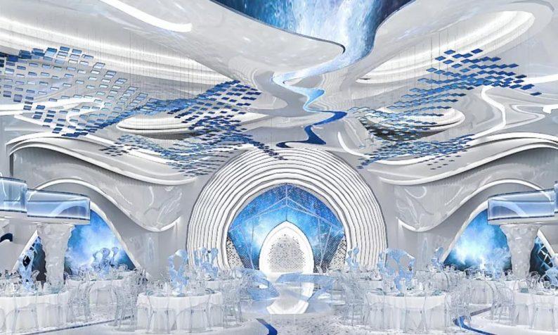 婚礼堂发布:5大蓝色系婚礼堂设计大赏  第9张