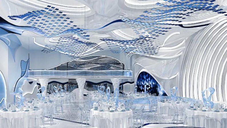婚礼堂发布:5大蓝色系婚礼堂设计大赏  第10张