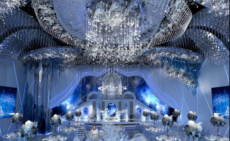 婚礼堂发布:5大蓝色系婚礼堂设计大赏  第16张