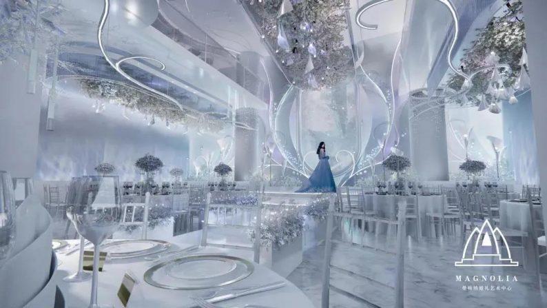 婚礼堂发布:上海曼格纳新厅【海芋之恋】梦幻亮相  第7张