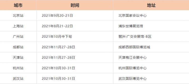 7座城!2021中国婚博会秋季展时间  第2张