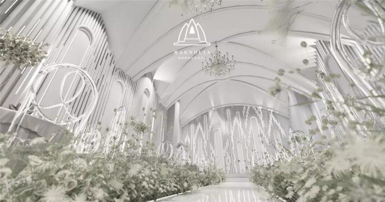 婚礼堂发布:上海曼格纳新厅,演绎春色浪漫  第5张