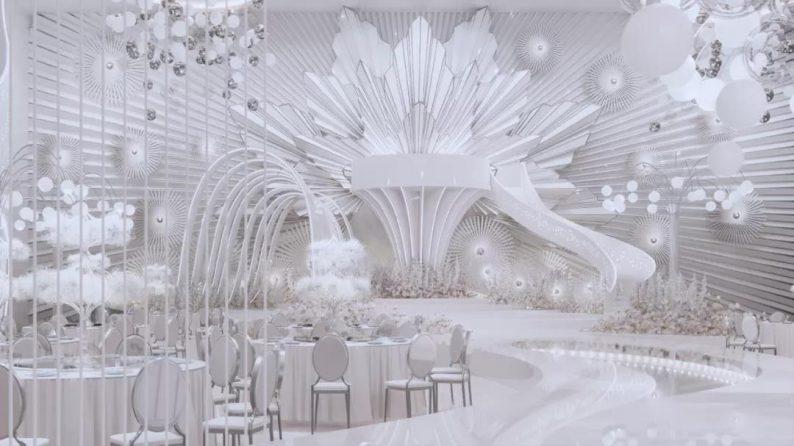 阿龙:另类宴会设计代表作,现代艺术宴会厅建筑与软装完美结合  第9张
