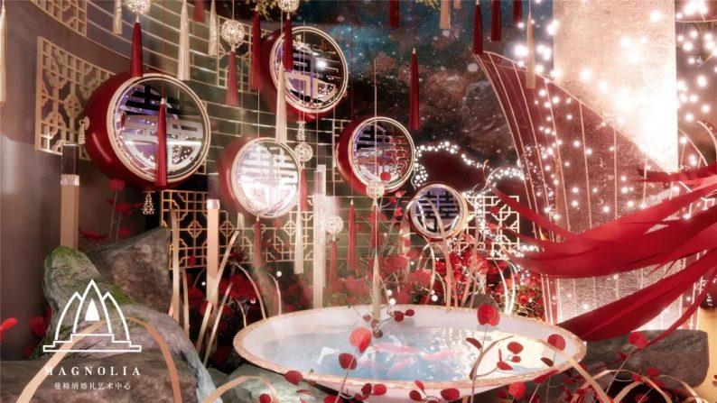 婚礼堂发布:上海曼格纳中式高定系列《百鲤婵娟》  第6张