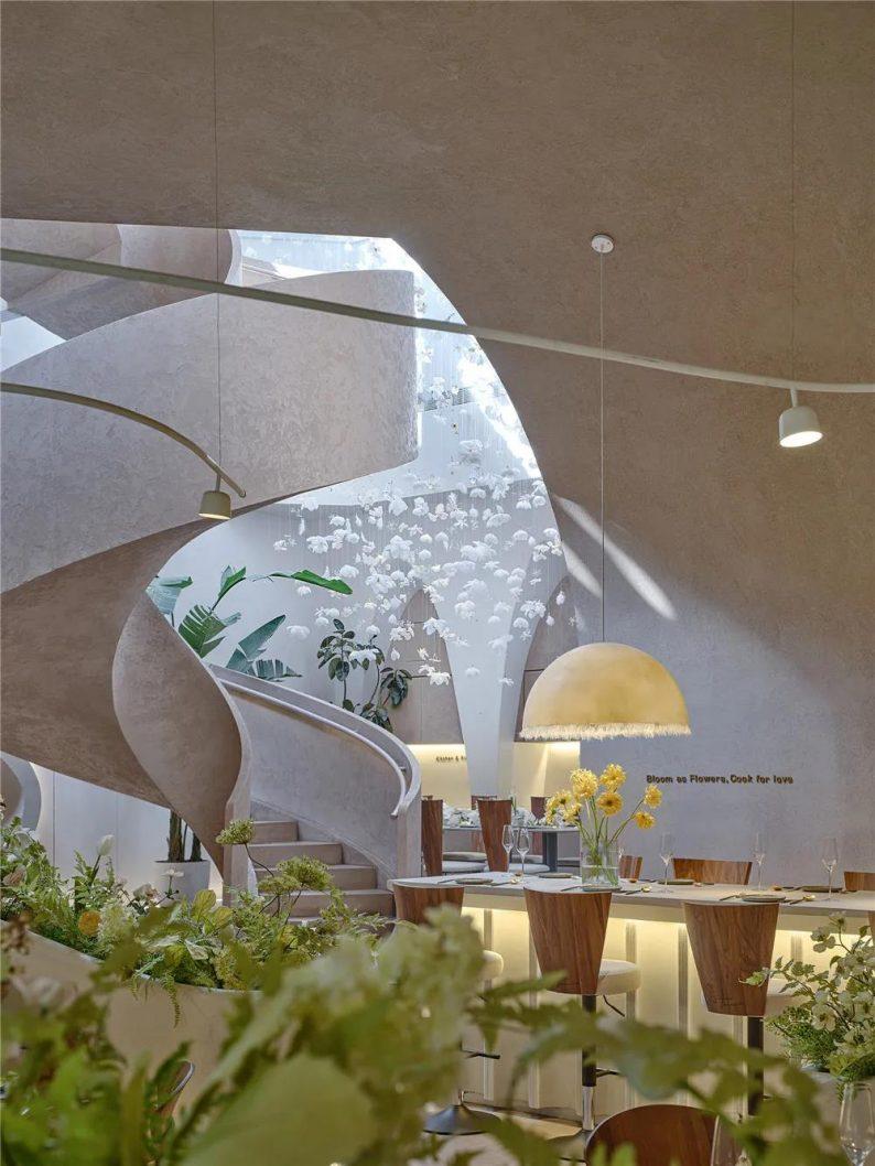 上海品牌餐厅「花厨」空间美学解读!  第3张
