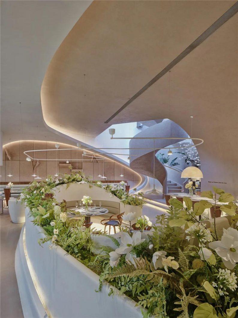 上海品牌餐厅「花厨」空间美学解读!  第5张